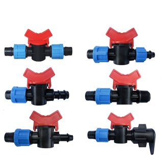 Micro Irrigation System Lock Tape Coupler PVC Water Meter Valve