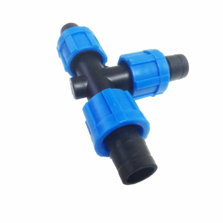 Dn17 three way Lock Tee for drip Tape Drip Irrigation system accessories farm irrigation equipment